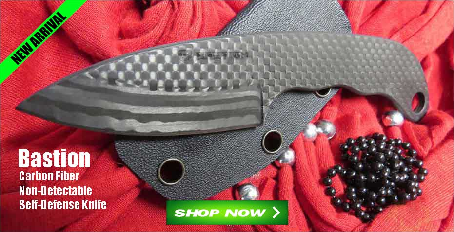 NEW Bastion Carbon Fiber Neck Knife on Sale at OsoGrandeKnives!