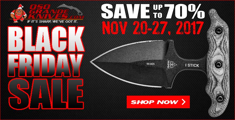 OsoGrandeKnives 2017 Black Friday Sale Going on Now