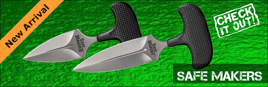 NEW Cold Steel Safe Maker Push Daggers on Sale at OsoGrandeKnives!