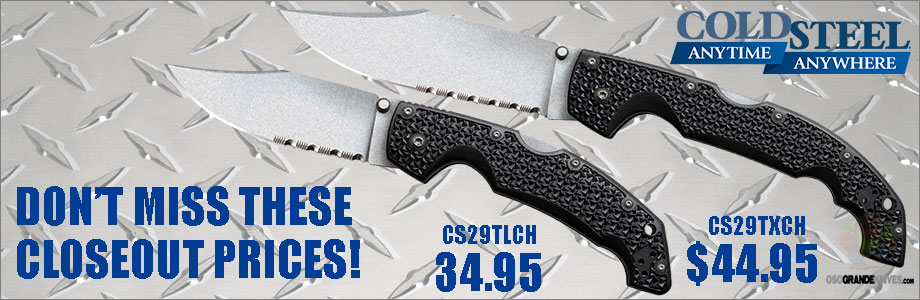 Closeout Sale-Cold Steel Voyagers at OsoGrandeKnives!