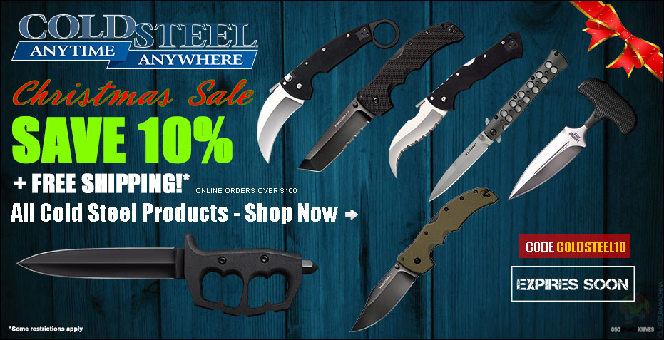 OsoGrandeKnives 2017 Cold Steel Christmas Sale is Going on Now