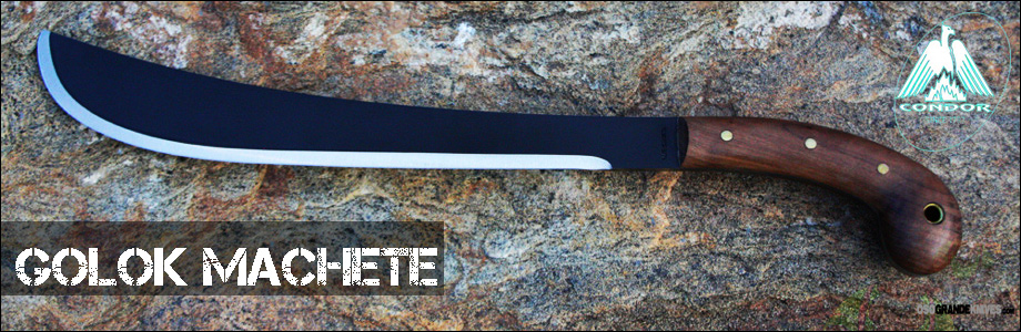 The Golok machete is Heavy Duty yet well balanced with the chopping power of an axe and the slicing ability of a machete.