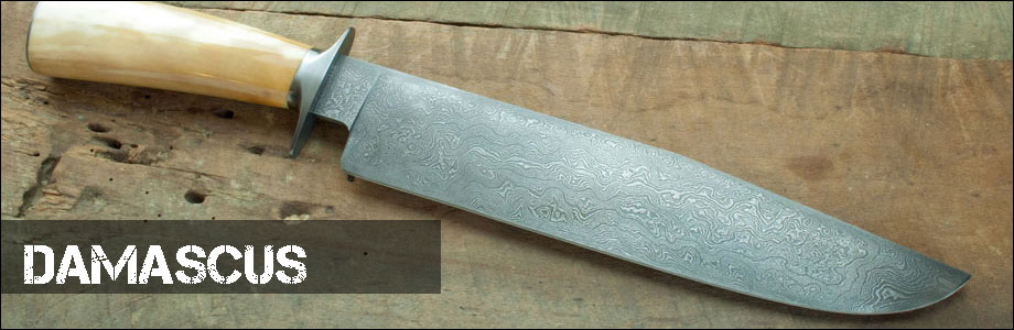 Damascus Fixed Blade Hunting Knives for Sale at OsoGrandeKnives