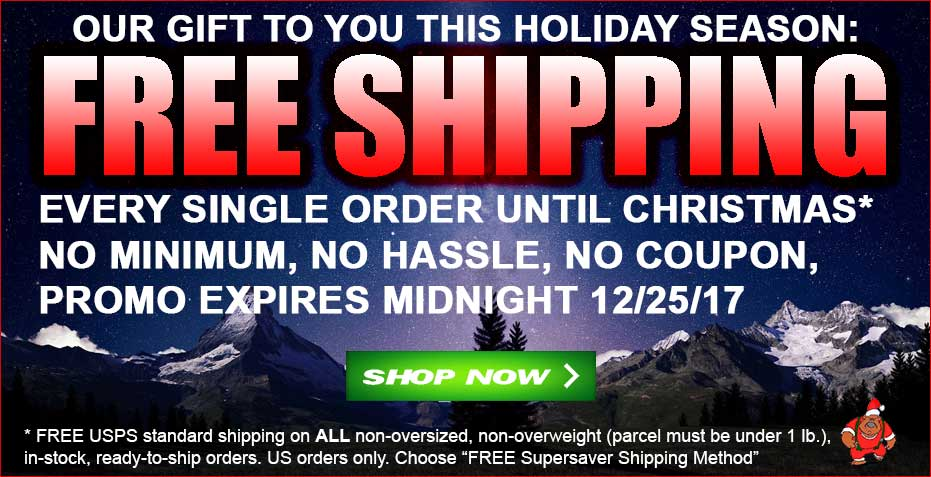 FREE SHIPPING-Every Single Order Until Christmas