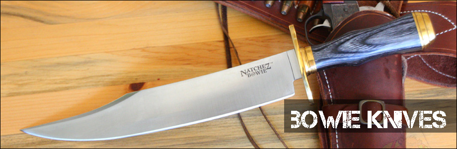 Quality bowie knives on sale at discount prices from OsoGrandeKnives.com. Knives from Buck, SOG, Case, Kabar, Cold Steel and many others.