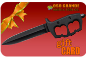 A Gift Card from OsoGrandeKnives is the perfect gift for the knife enthusiast