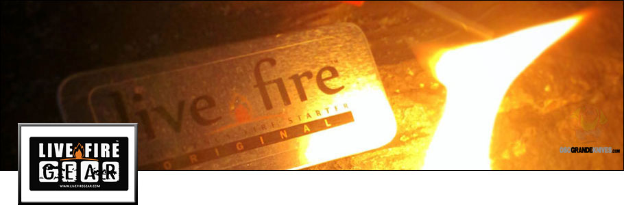 Buy Live Fire Gear Fire Starting Tools for Camping, Campfire, Survival at OsoGrandeKnives.com