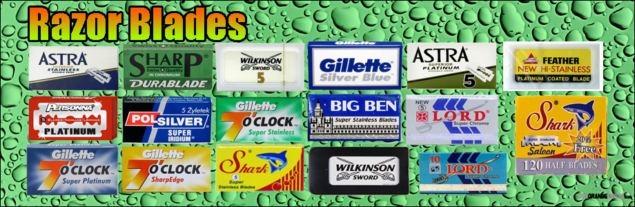High quality razor blades from Astra, Merkur, Gillette, Wikinson, Derby, Shark and more...