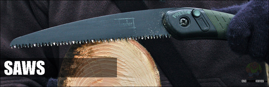 OsoGrandeKnives has a great collection of folding saws, bone saws, pack saws and survival saws for you to choose from.