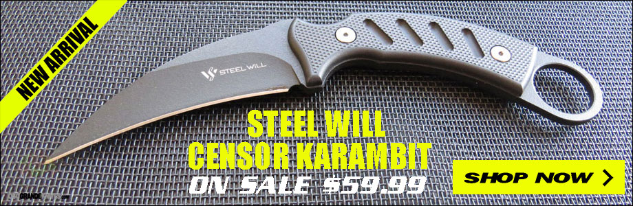 Steel Will Censor Karambit On Sale at OsoGrandeKnives