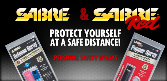 View the full line of Sabre Self Defense Sprays at OsoGrandeKnives.com
