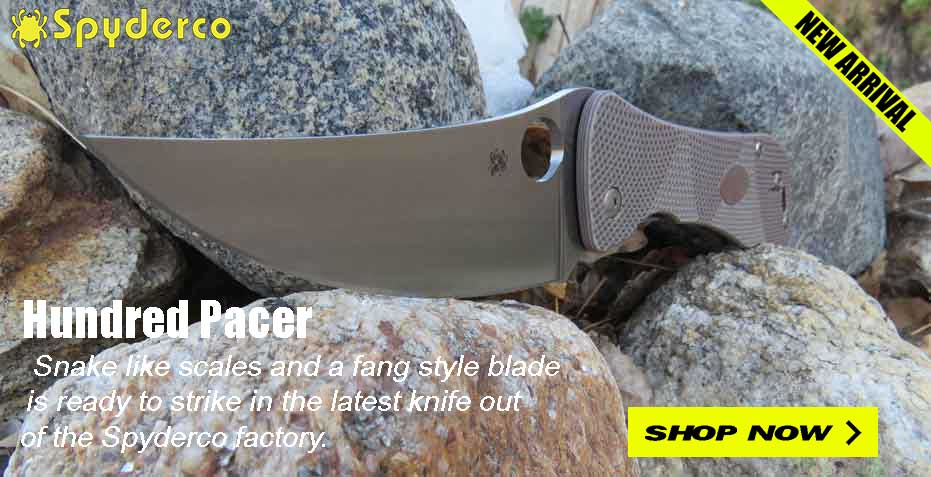 Buy the New Spyderco Hundred Pacer knife at OsoGrandeKnives!