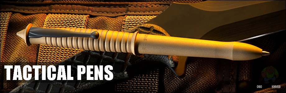 Oso Grande has a wide selection of Tactical Pens that are well designed, lightweight, good looking and value priced!