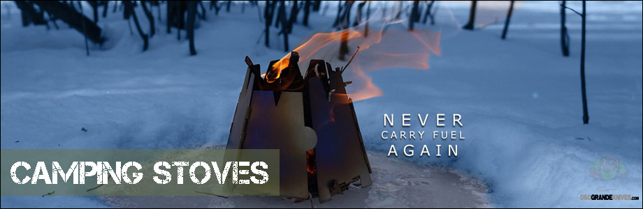 With the Vargo Ultra-light Titanium Stove you'll never need to carry fuel again!