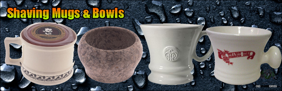 Shop high quality shaving mugs and bowls at OsoGrandeKnives.com