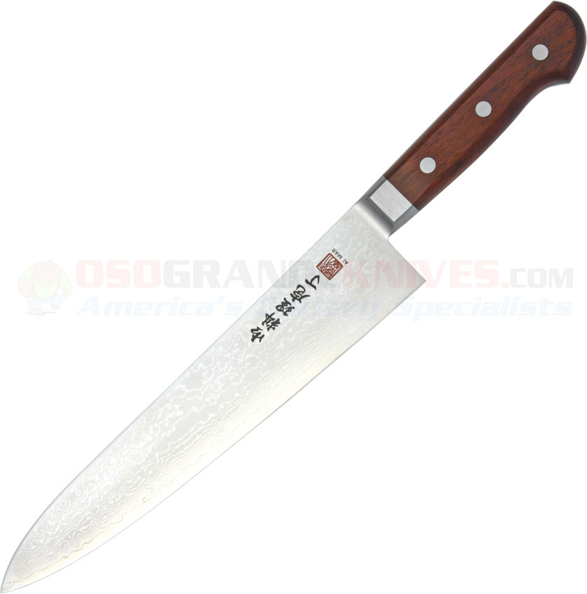 al mar uc9 ultra chef gyuto knife damascus vg 10 blade cocobolo wood handles osograndeknives. Black Bedroom Furniture Sets. Home Design Ideas
