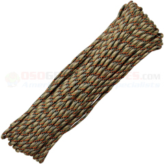 Treestand 550 Paracord (Type III Mil Spec 7 Strand 550 Lbs. Parachute Cord) 100 ft. Hank Made in USA RG1036H