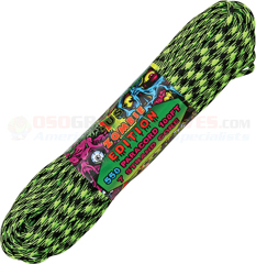 Outbreak Zombie 550 Paracord (Type III Mil Spec 7 Strand 550 Lbs. Parachute Cord) 100 ft. Hank Made in USA RG1046H