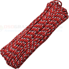 Reactor 550 Paracord (Type III Mil Spec 7 Strand 550 Lbs. Parachute Cord) 100 ft. Hank Made in USA RG1070H