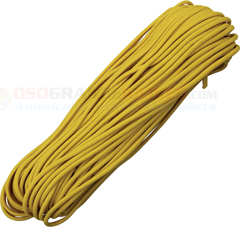 Yellow/Gold 550 Paracord (Type III Mil Spec 7 Strand 550 Lbs. Parachute Cord) 100 ft. Hank Made in USA RG1081H