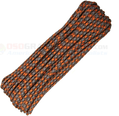 Rust 550 Paracord (Type III Mil Spec 7 Strand 550 Lbs. Parachute Cord) 100 ft. Hank Made in USA RG1087H