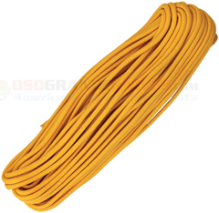 Air Force Gold 550 Paracord (Type III Mil Spec 7 Strand 550 Lbs. Parachute Cord) 100 ft. Hank Made in USA RG1118H