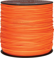 Neon Orange Micro Cord Nylon Braided Parachute Cord (1000 Feet x 1.12 mm) Made in USA RG1138
