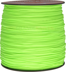 Neon Green Micro Cord Nylon Braided Parachute Cord (1000 Feet x 1.12 mm) Made in USA RG1139