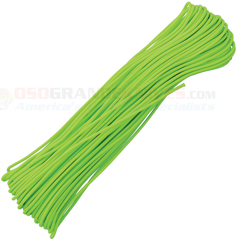 Neon Green Tactical Paracord (100 ft. x 3/32 in. 4 Strand 275 Lbs. Test Nylon Parachute Cord) Made in USA RG1159