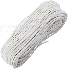 White MIL-C-5040 Type III 550 Paracord (7 Strand 3-Ply Twisted 550 Lbs. Parachute Cord) 100 ft. Hank Made in USA RG1163H