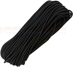 Black MIL-C-5040 Type III 550 Paracord (7 Strand 3-Ply Twisted 550 Lbs. Parachute Cord) 100 ft. Hank Made in USA RG1164H