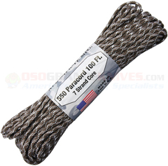 Tundra 550 Paracord (Type III Mil Spec 7 Strand 550 Lbs. Parachute Cord) 100 ft. Hank Made in USA RG1240H