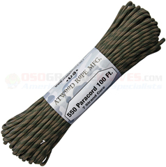 Cavalry 550 Paracord (Type III Mil Spec 7 Strand 550 Lbs. Parachute Cord) 100 ft. Hank Made in USA RG1244H