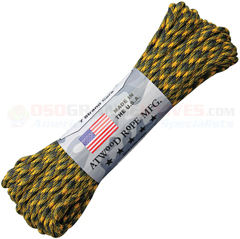 Bulldozer 550 Paracord (Type III Mil Spec 7 Strand 550 Lbs. Parachute Cord) 100 ft. Hank Made in USA RG1251H