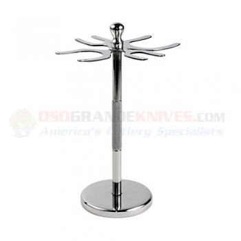 4 prong deluxe stainless steel shave stand 4pdss osograndeknives. Black Bedroom Furniture Sets. Home Design Ideas