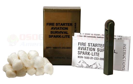 10 Military issue Firestarter avec des Allumettes Spark-Lite Amadou-Quik Fire onglets