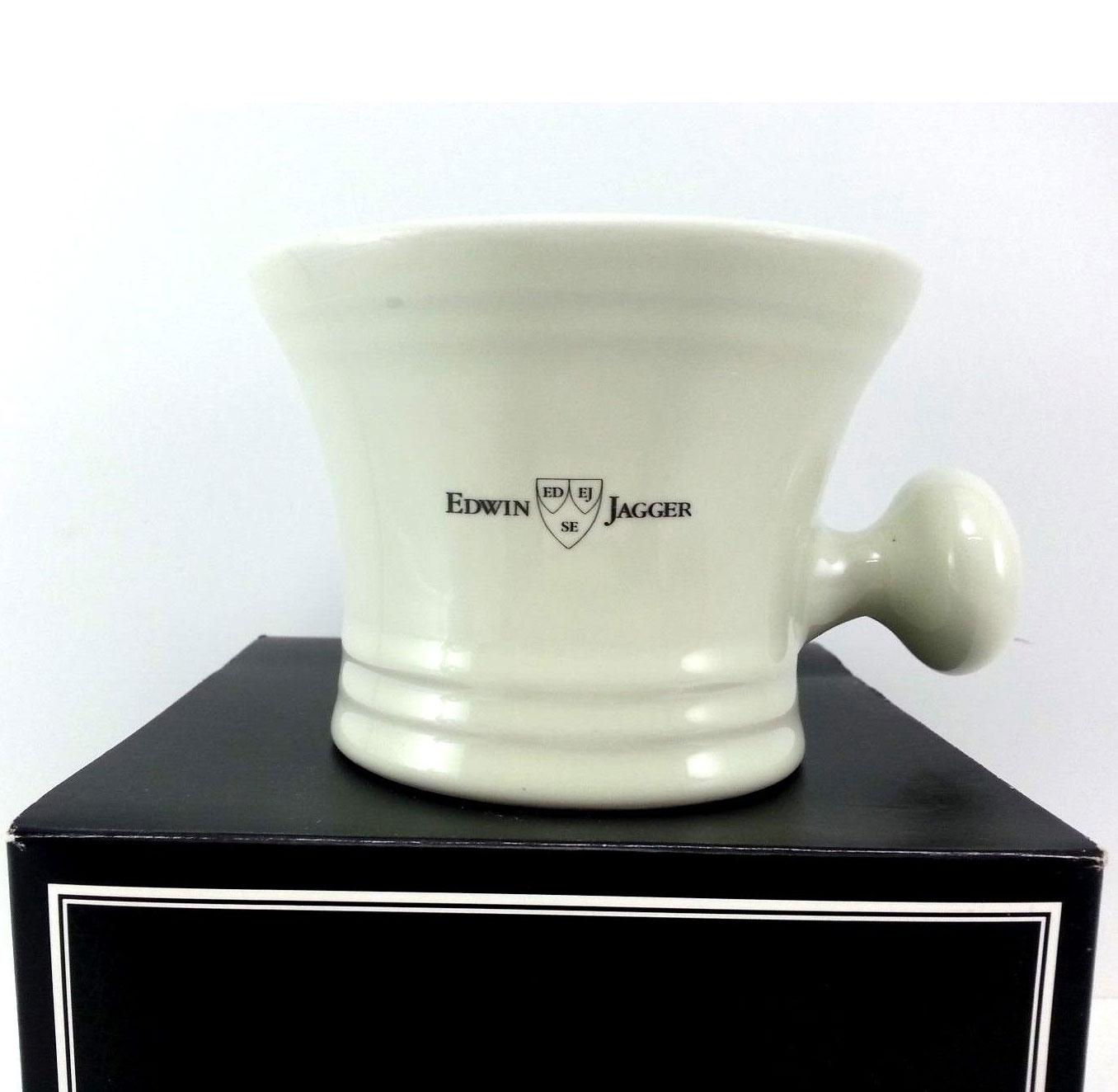 Edwin Jagger Ivory Porcelain Apothecary Shaving Soap Mug