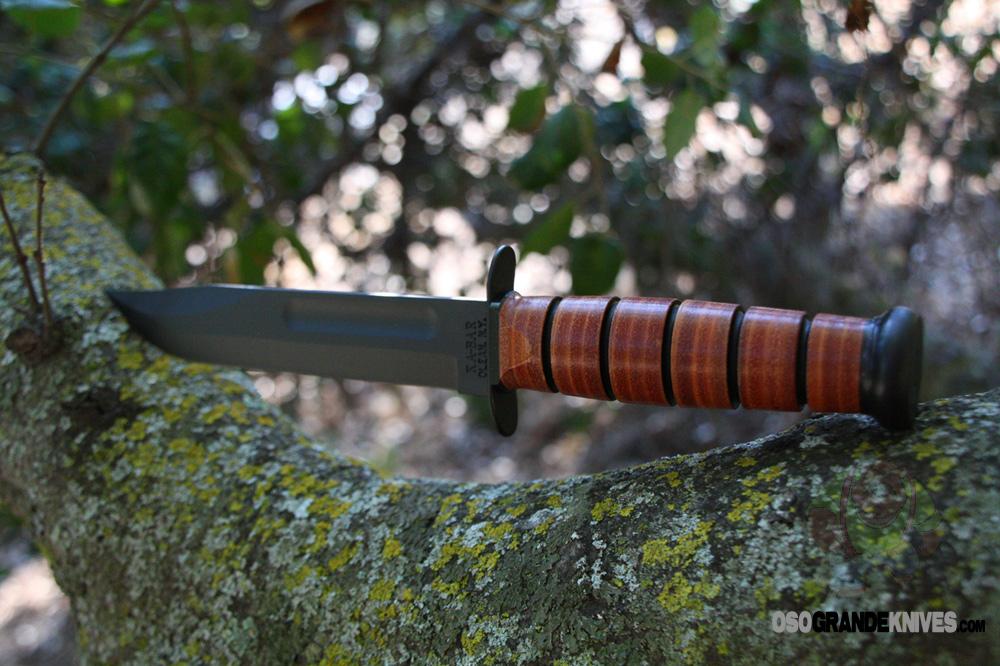 Edge Cts 2 >> Kabar 1217 USMC Fighting/Utility Knife, PlainEdge, Leather ...