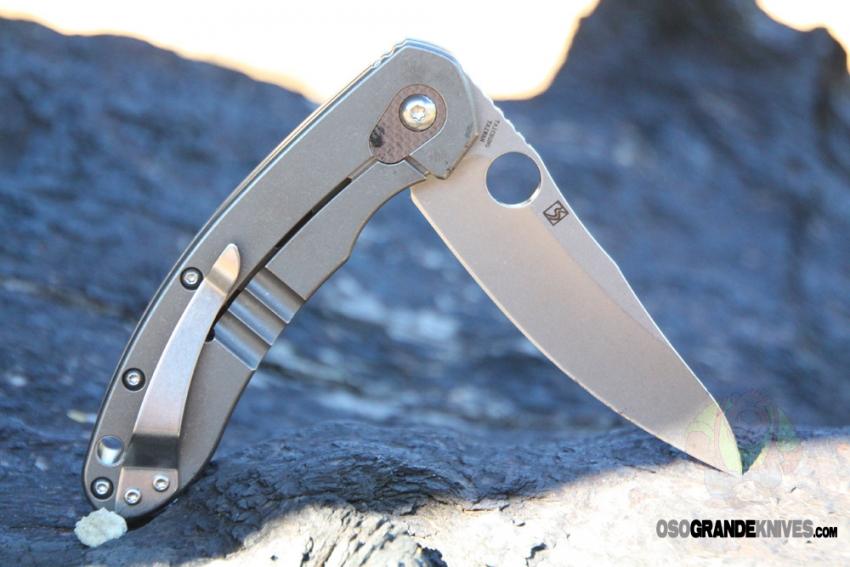 Spyderco c156gpbn brad southard flipper cts 204p carpenter steel blade