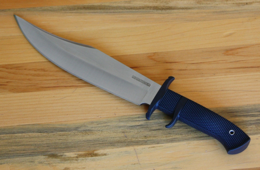 Cold Steel Marauder Bowie Fixed Blade 9 In Satin Plain