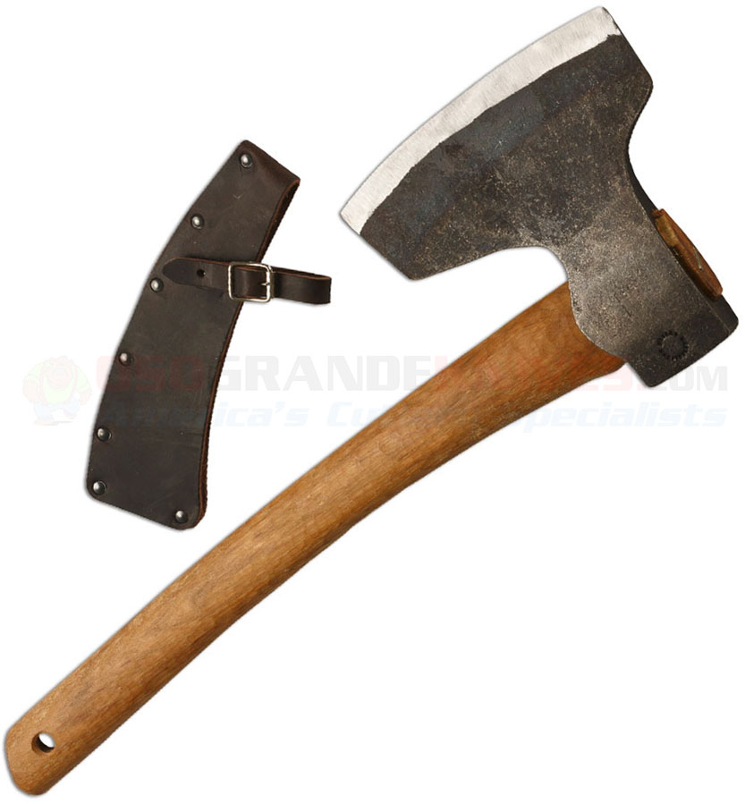 Wetterlings Short Broad Axe, Leather Blade Guard, 192