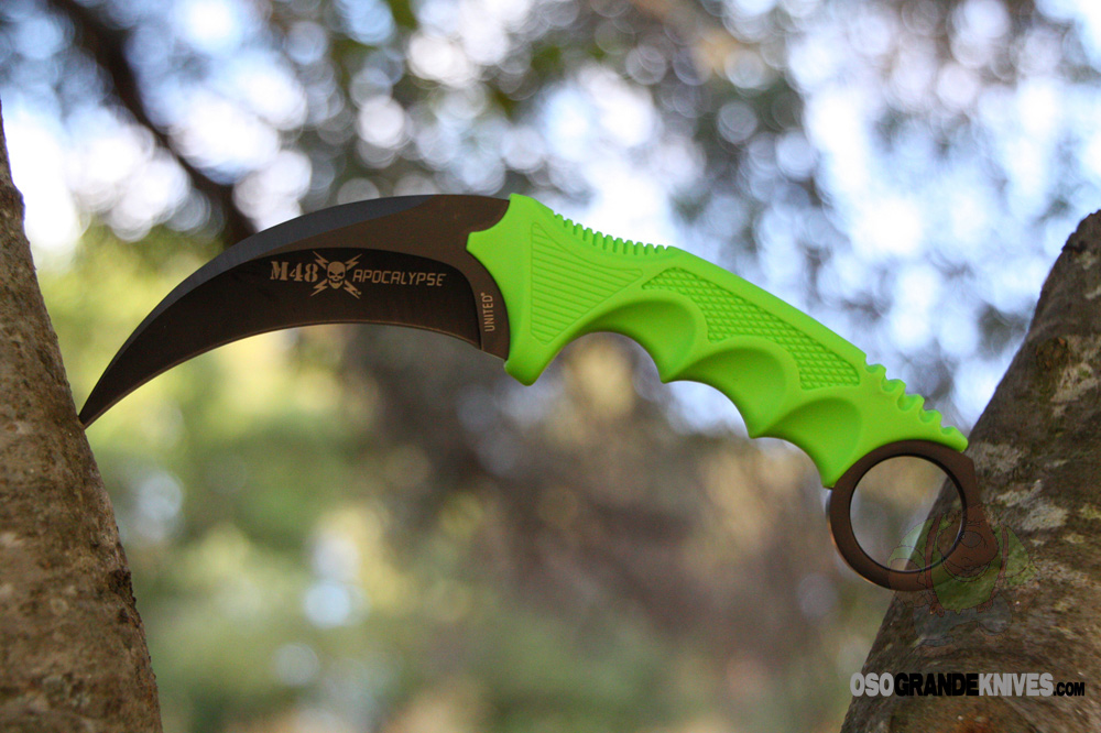 United Cutlery M48 Apocalypse Karambit Fixed 4.0 Inch Black Blade 2951 | OsoGrandeKnives
