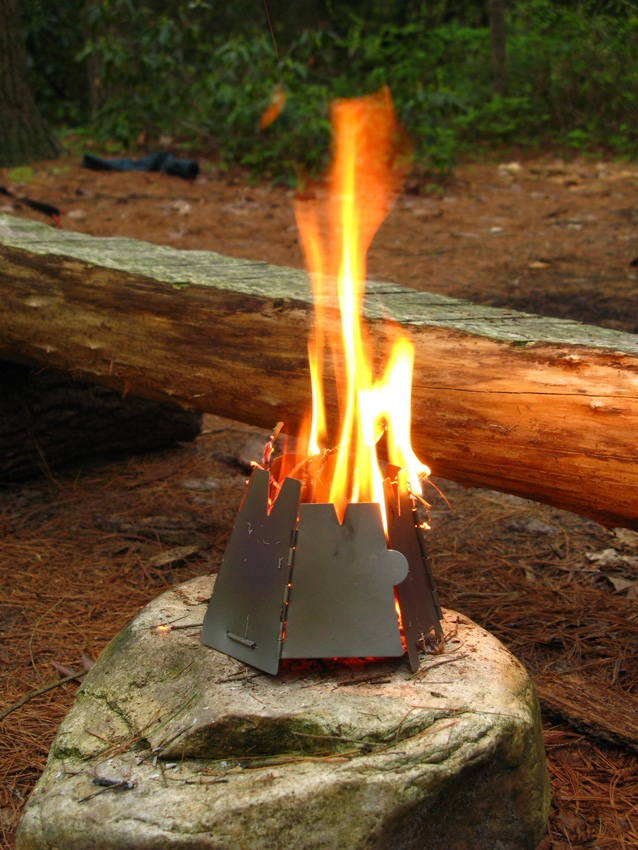 Vargo Titanium Hexagon Wood Stove Backpacking Camping