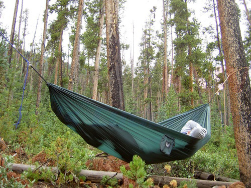 Grand Trunk Ultralight Hammock Forest Green Osograndeknives