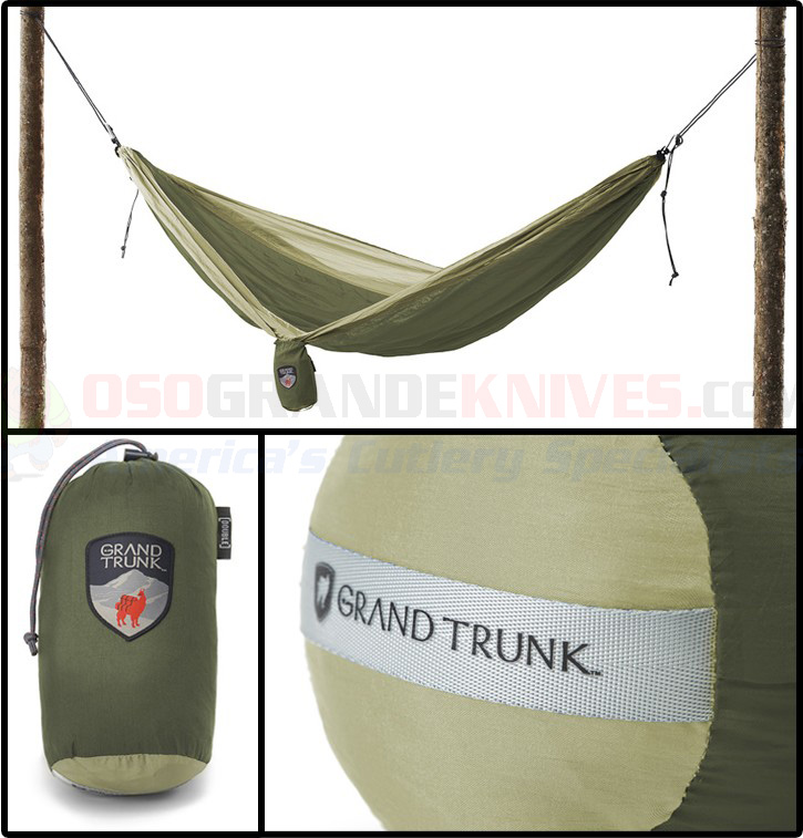 Grand Trunk Parachute Nylon Single Hammock Olivekhaki