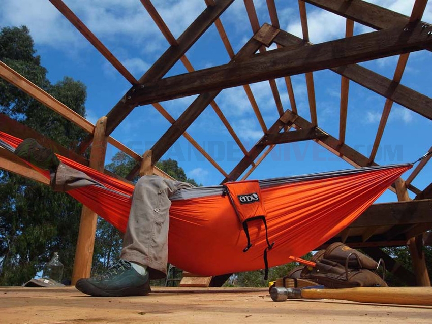 Eagles Nest Outfitters Eno Singlenest Hammock Orange Grey