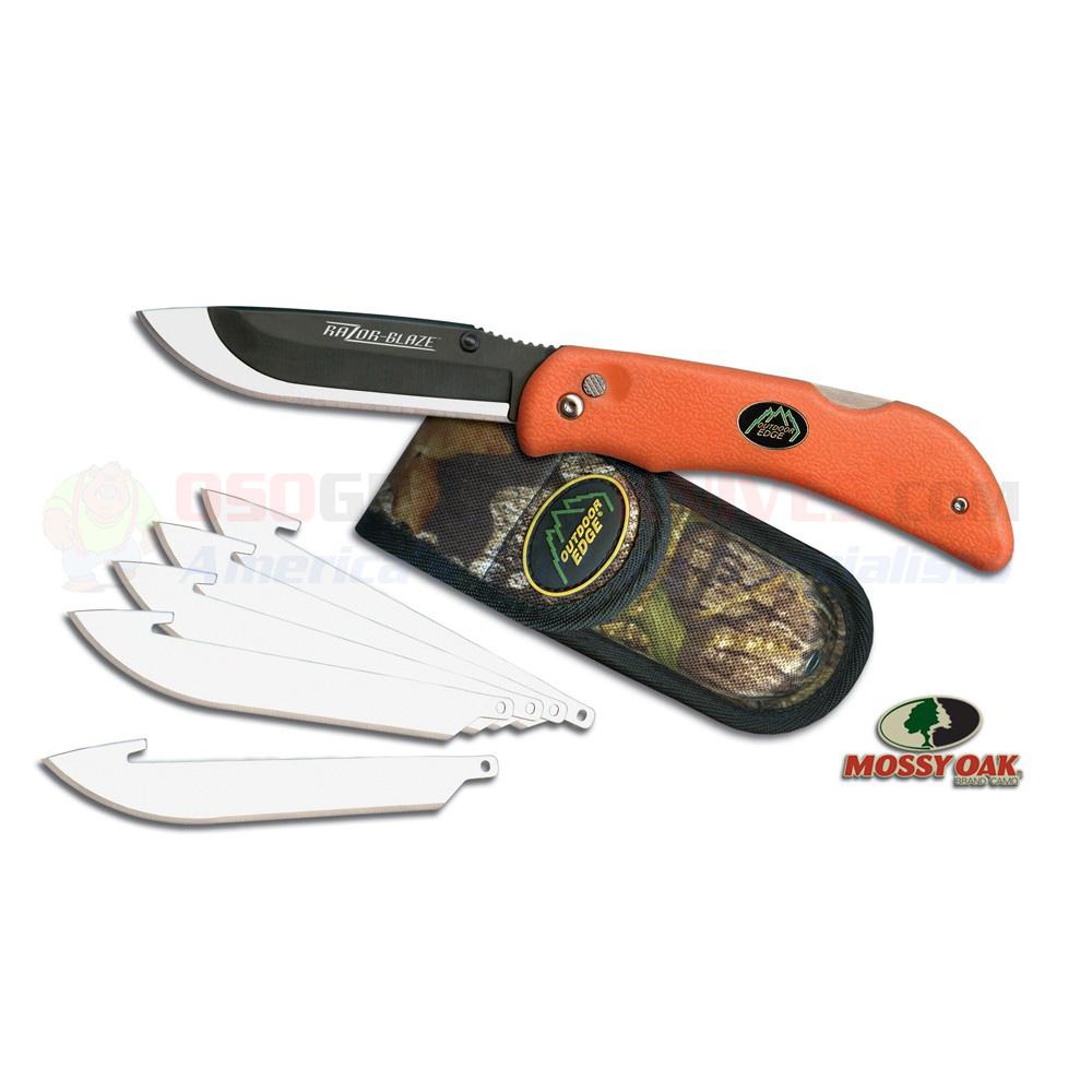 Outdoor Edge Razor-Blaze 3.5 Inch Folding Hunting Knife Blaze Orange | OsoGrandeKnives