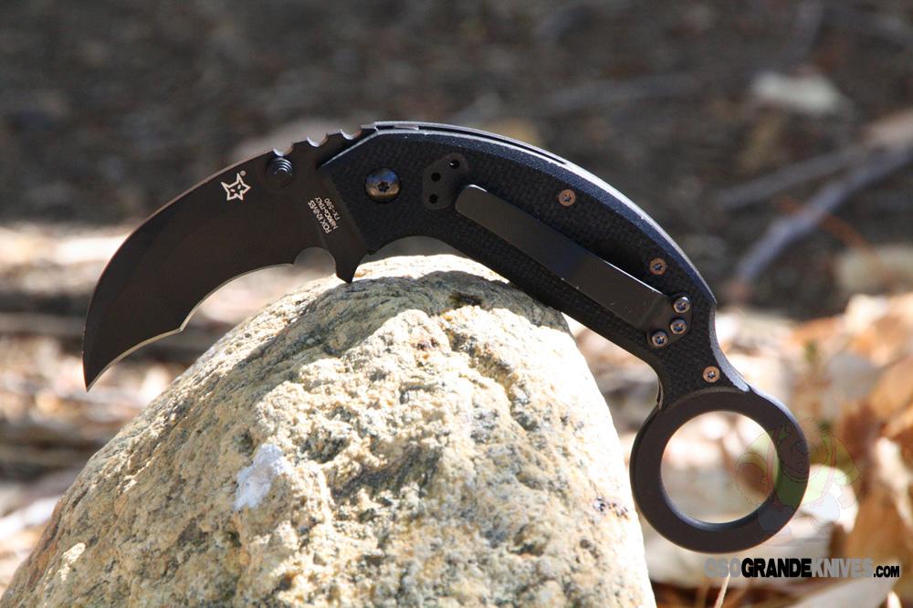 Fox Knives Derespina Chiroptera Karambit Folding Knife Fx