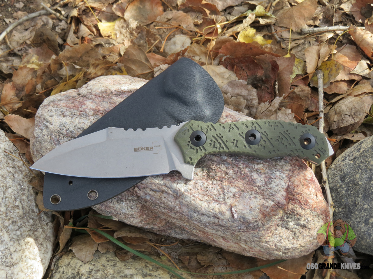Gifts For Organizers >> Boker Plus Colubris Fixed Blade Knife Stonewash Blade 02BO055 | OsoGrandeKnives