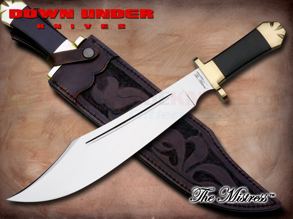 Down Under Knives Mistress Bowie Fixed Blade Knife 13 In